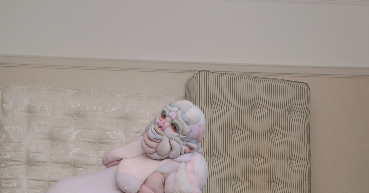 Photo of Squishy Flesh Suits Quilted by Textile Artist Daisy Collingridge