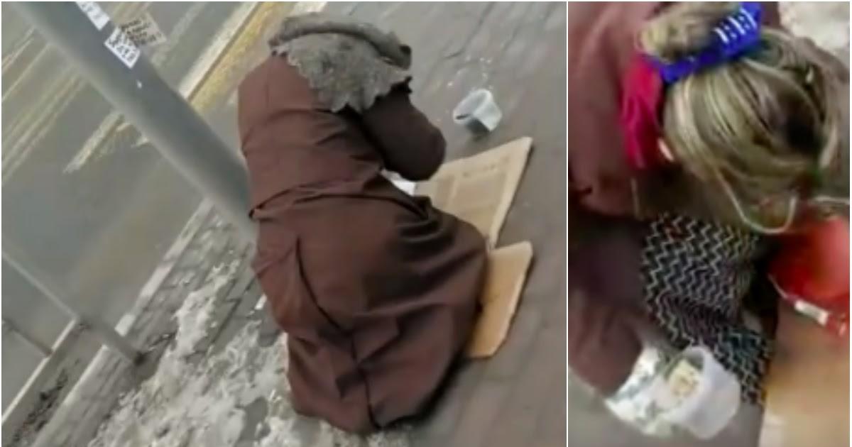 """Фото Местные разоблачили просящую милостыню """"нищую бабушку"""" в Липецке"""