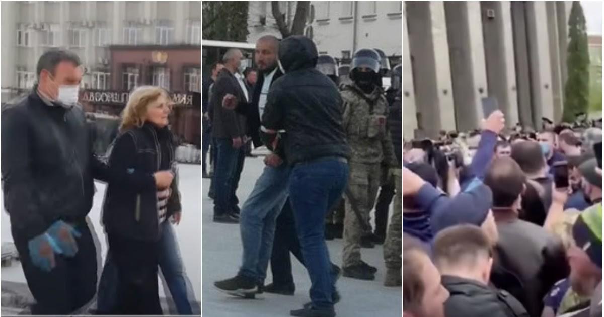 """Фото 69 человек задержаны в ходе """"коронавирусных"""" протестов во Владикавказе"""