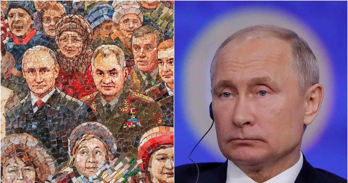 Фото Путин высказался о мозаике с его портретом в храме Минобороны