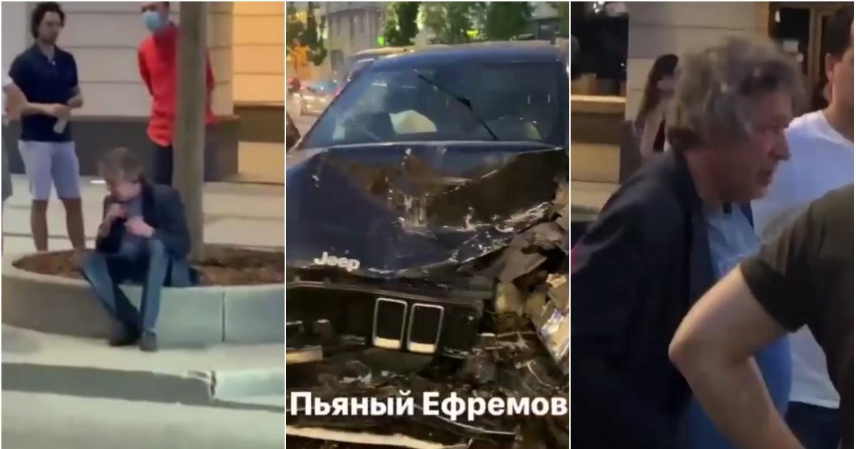 Фото Ефремов устроил серьезное ДТП в Москве, есть тяжело пострадавшие