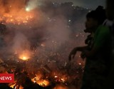 Bangladesh fire: 15,000 homes destroyed in Dhaka slum