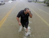 "Hundreds call for help as ""life-threatening"" storm drenches Texas"