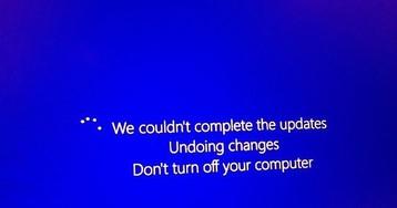Обновление Windows 10 зацикливает компьютер на перезагрузках
