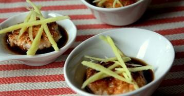 Рыбные котлетки из креветок с лососем по-японски