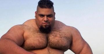 Лучше его не злить: иранский Халк весит 155 килограммов, и все это мышцы