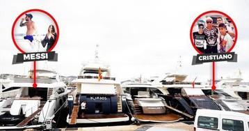 Месси и Роналду припарковали яхты в 20 метрах друг от друга