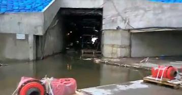 Строящийся стадион «Зенита» начал уходить под воду