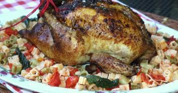 Жареная курица с имбирем по-провансальски