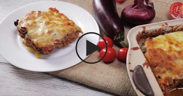 Мясная запеканка с баклажанами: видео-рецепт