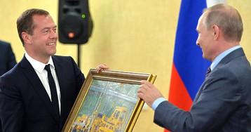 Картина, подаренная Медведеву, оценена в полмиллиона рублей