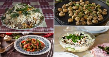 Подборка самых вкусных салатов с грибами