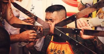 Кровавый вегетарианский фестиваль в Таиланде