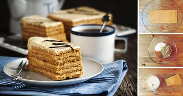 Домашний медовик с грецкими орехами: пошаговый фото рецепт