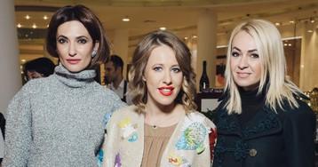 Собчак, Рудковская и Бондарчук на открытии корнера Delpozo в Boutique no 7
