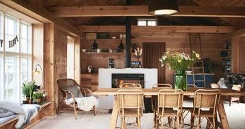 Как оформить маленькую деревянную дачу: 70 квадратов уюта