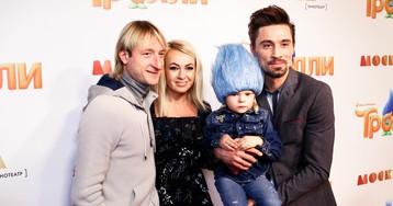 Рудковская с семьей и Дима Билан на премьере мультфильма «Тролли»