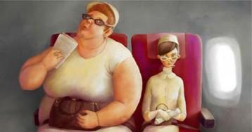 Como é ser a pessoa gorda ao seu lado?