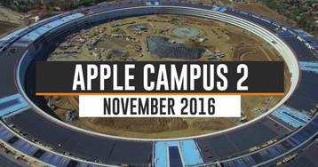 Vídeos: árvores começam a aparecer à medida que construção do Apple Campus 2 é finalizada