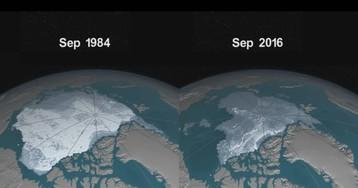 Estudo mostra a perda de gelo do Oceano Ártico desde 1984