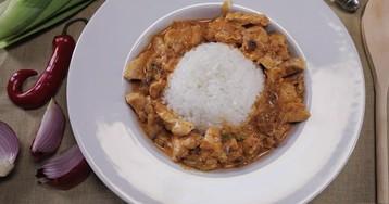 Кокосовый карри с курицей и рисом