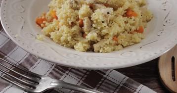 Марокканский кускус с овощами и курицей