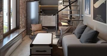 Студия недели: превратили 25 квадратов в двухэтажный лофт
