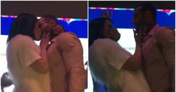 Alinne Rosa arremata beijo do sertanejo Lucas Lucco por R$ 22 mil; veja vídeo