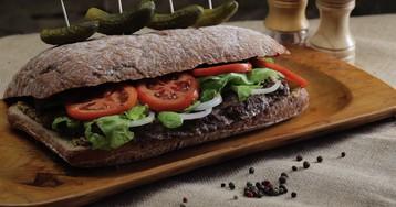 Мега сендвич в чиабатте