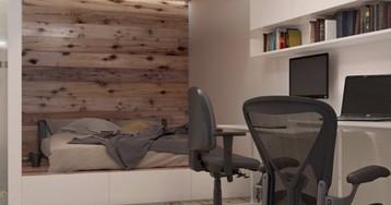 Однокомнатная квартира для жизни и работы: как вместить необходимое
