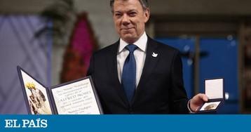 """Juan Manuel Santos, após receber o Nobel da Paz: """"Há uma guerra a menos no mundo, e é a da Colômbia"""""""
