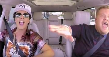 Bruno Mars canta 24K Magic em prévia de karaokê no carro