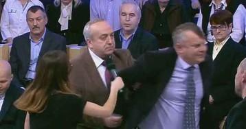 Сенатор выгнал из телестудии украинского политолога, отказавшегося почтить память Ту-154