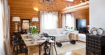 Недорого и стильно: как дизайнер оформила дом из сруба