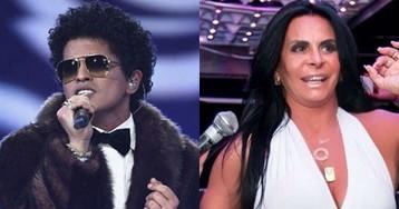 Bruno Mars posta gif de Gretchen e cantora retribui com momento fã