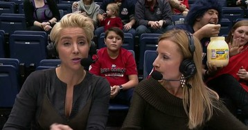 Belmont Basketball Fan Insists That He's Actually Eating Mayonnaise At Games
