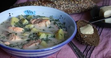 Финский суп Lohikeitto