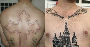 Tatuagens de cadeia e seus significados no Brasil e no mundo