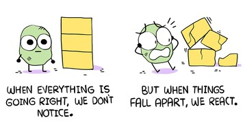 A simple comic about keeping things in perspective