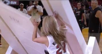Heat Fan Nearly Flattened By Falling Door After Winning Promotion