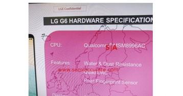 В Сеть утекли официальные спецификации LG G6