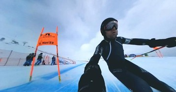 Хардкорное видео скоростного спуска со 120 км/ч на спидометре и обзором 360°