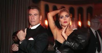 Кэти Перри, Леди Гага и Джон Траволта на after-party «Грэмми»