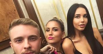 Егор Крид, Анастасия Решетова и Ханна на дне рождения жены музыкального директора Black Star