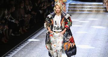 Показ Dolce & Gabbana с Надеждой Оболенцевой, Викторией Шеляговой и Илоной Столье здесь!