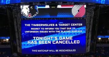 Blazers-Timberwolves Game Canceled Due To Sweaty Hardwood