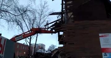 В Архангельске к приезду Путина снесли два многоквартирных дома