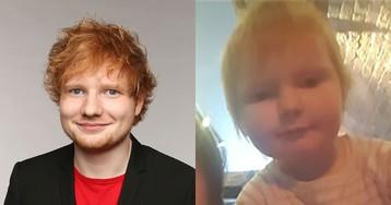 Ed Sheeran reage e brinca com foto de bebê que tem a sua cara