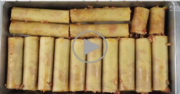 Каннелони с мясным фаршем: видео-рецепт