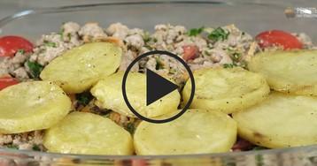 Запеканка с картофелем и фаршем: видео-рецепт